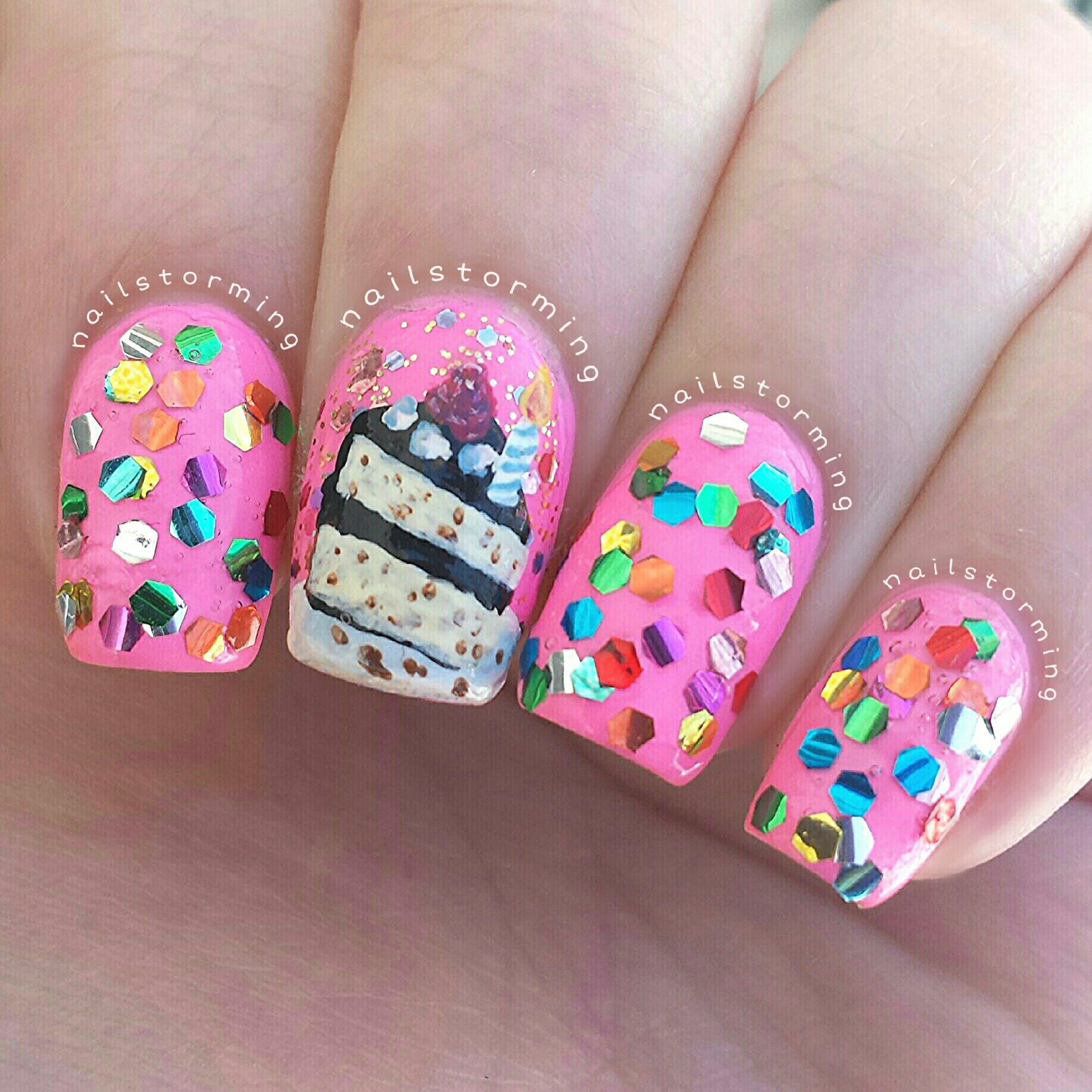 Birthday Cake Nails: 301 Moved Permanently