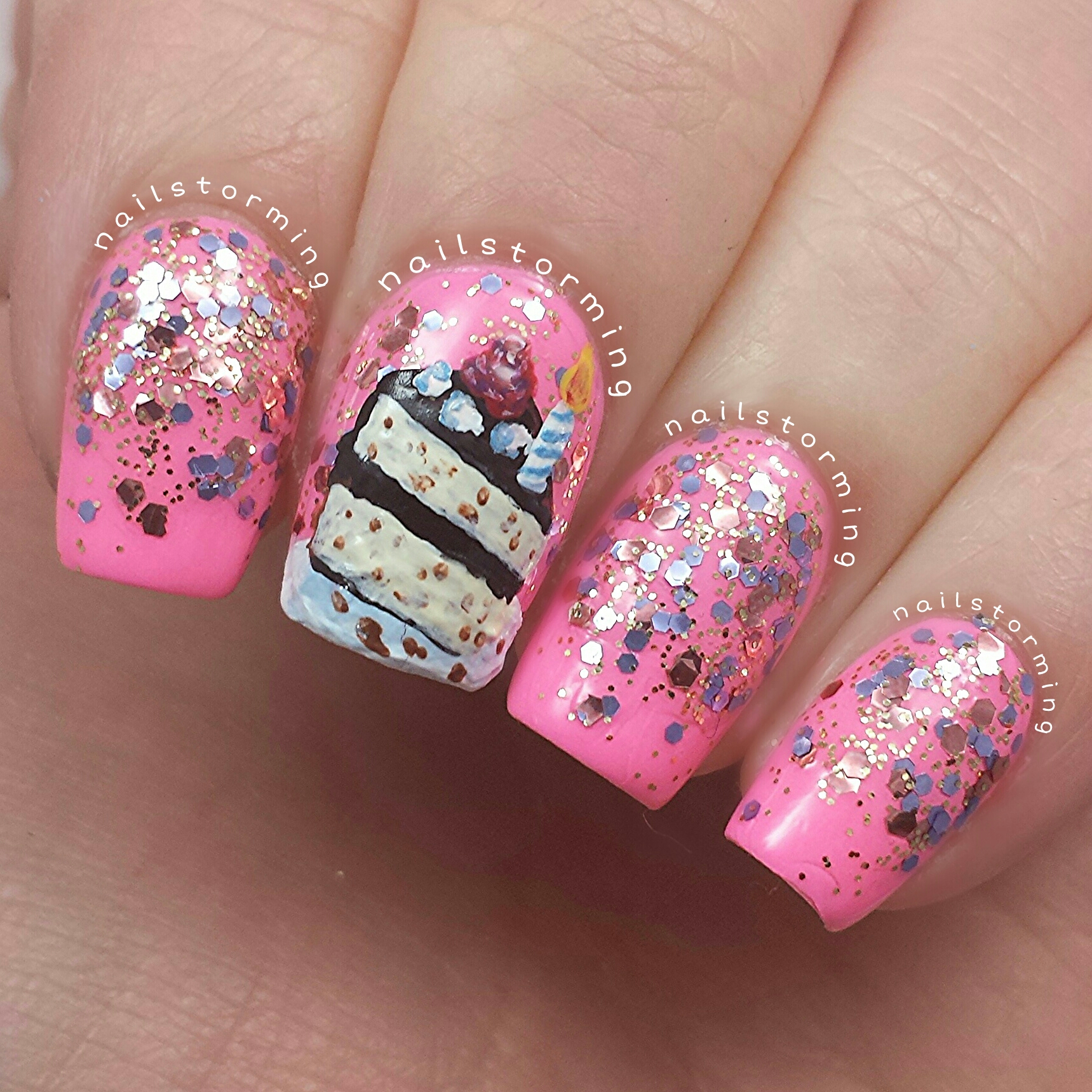 Cake Images With Name Mani : Mani swap   Birthday cake No. 2   Nailstorming
